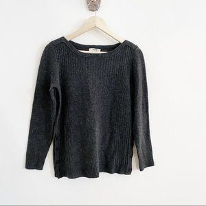 Madewell Pinewood Button Side Sweater